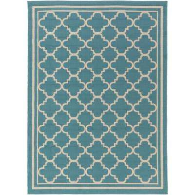 Ianjica Slate 9 ft. x 13 ft. Indoor/Outdoor Area Rug