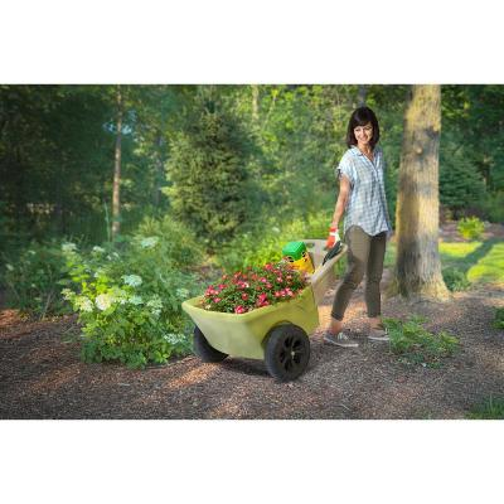 Easy Haul Green Wheelbarrow