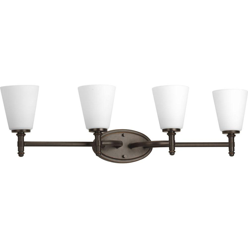 Progress Lighting Flirt Collection Antique Bronze 4-light Vanity Fixture-DISCONTINUED