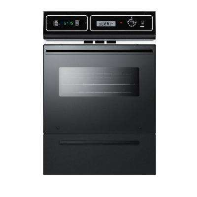 24 in. Single Gas Wall Oven in Black