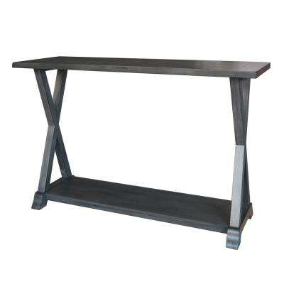 29.53 in. Gray Wood Console Table