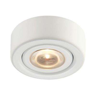 Eco 1-Lamp LED White Puck Light with Clear Glass