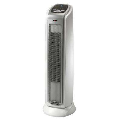 7.4 in. 1500-Watt Portable Electronic Thermostat Ceramic Tower Heater