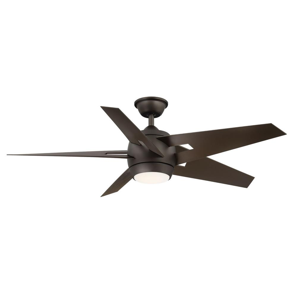 Home Decorators Collection Point Aire52 in. LED Espresso Bronze Ceiling Fan with Light