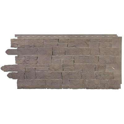 Stacked Stone 45 in. x 20-1/4 in. Polymer Smoke Gray Siding (10-Pack)