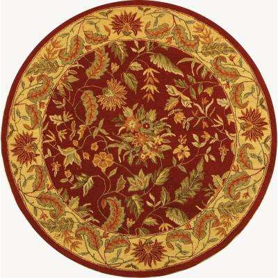 Chelsea Red 4 ft. x 4 ft. Round Area Rug