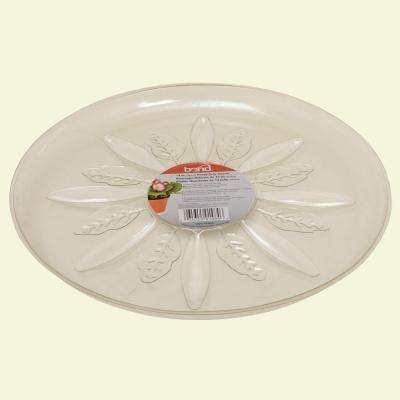 14 in. Heavy Duty Clear Plastic Saucer