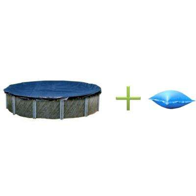 18 ft. Round Above Ground Swimming Pool Winter Cover and 4 ft. x 8 ft. Closing Air Pillow