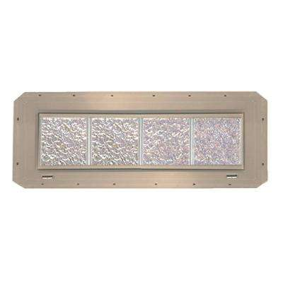 31.75 in. x 9.25 in. x 3.25 in. Ice Pattern Vinyl Glass Block Window with Clay Nailing Fin