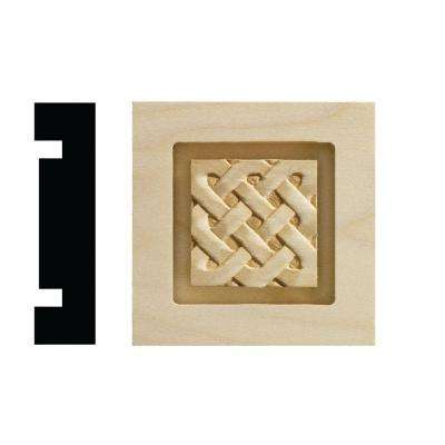 Celtic Collection 13/16 in. x 3-1/4 in. x 3-1/4 in. White Hardwood Casing Door and Window Corner Block Moulding