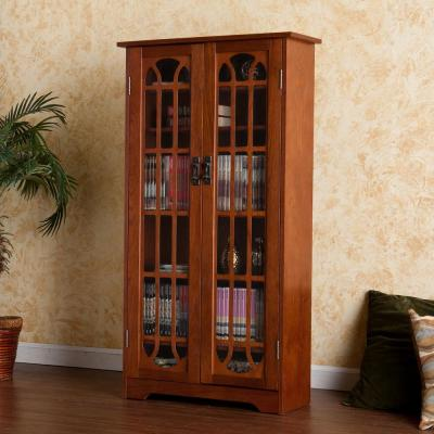 Comfort Bay SEI Mission Window-Pane Double-Door Media Cabinet