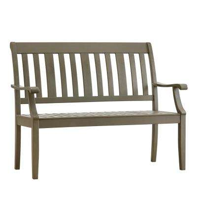 Verdon Gorge 45 in. Gray Wood Outdoor Bench