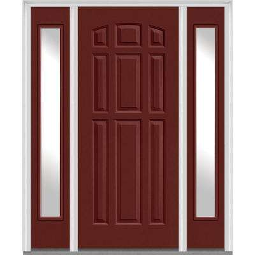 Red - Fiberglass Doors - Front Doors - The Home Depot