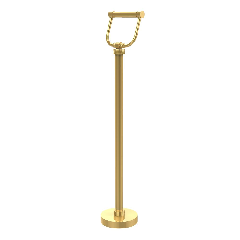 Allied Brass Free Standing Toilet Paper Holder in Unlacquered Brass