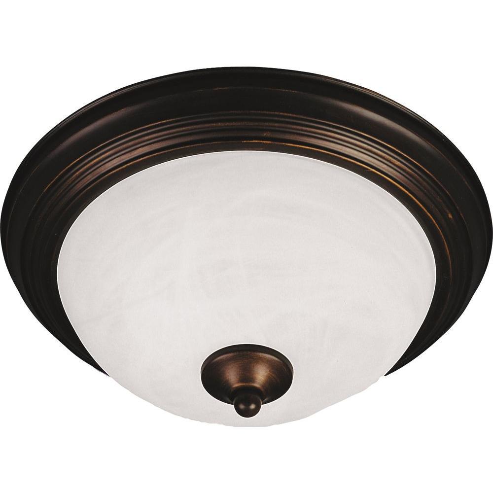 Maxim Lighting Essentials 3 Light Oil Rubbed Bronze Flushmount