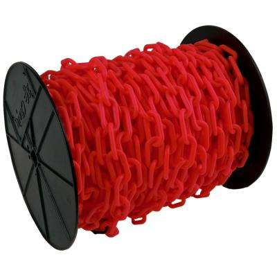 1.5 in. (#6, 38 mm) x 200 ft. Reel Red Plastic Chain
