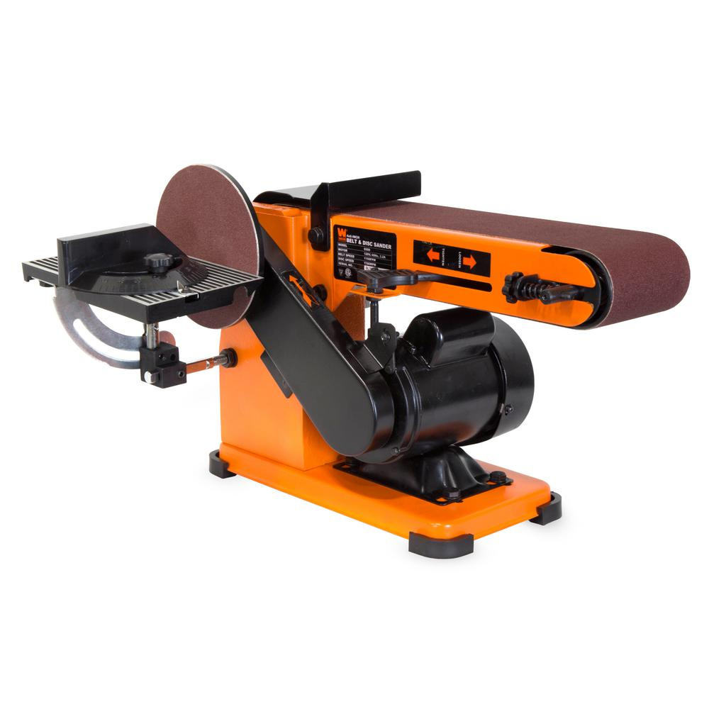 4 x 36 in. Belt and 6 in. Disc Corded Sander