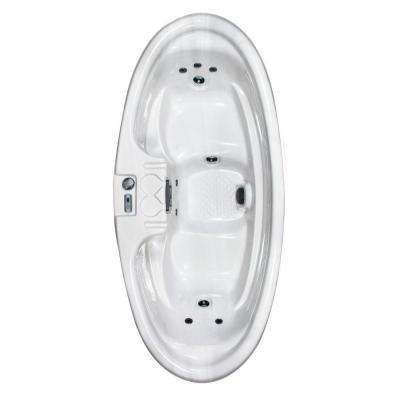 Capri Plug and Play 2-Person 8-Jet Spa with 1 HP Pump in Silver Marble