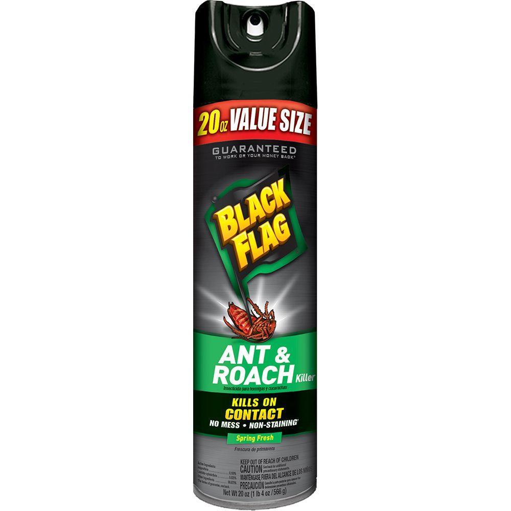 black flag ant and roach killer 20 oz aerosol spring fresh scent spray bonus hg 11064 1 the. Black Bedroom Furniture Sets. Home Design Ideas