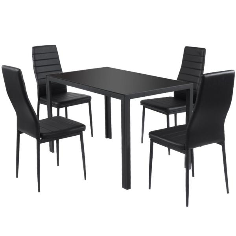 5-Piece Iron Outdoor Kitchen Dining Set