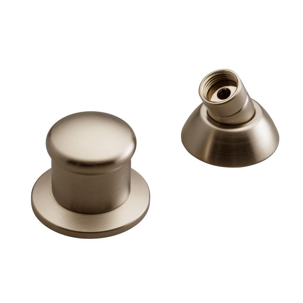2-Way Diverter Valve and Handshower Hose Guide in Vibrant Brushed Bronze