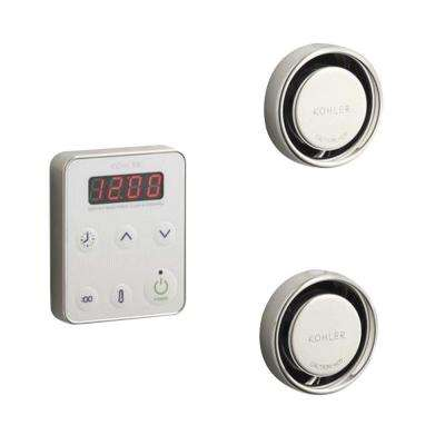 Fast Response Wall-Mount Steam Bath Generator Control Kit in Vibrant Polished Nickel