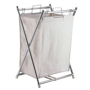Neu Home Folding Hamper with Canvas Pull-Out Bag by Neu Home