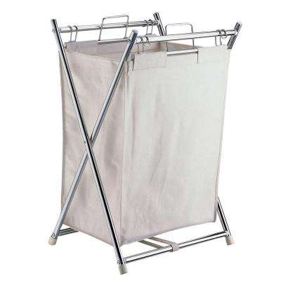 Folding Hamper with Canvas Pull-Out Bag