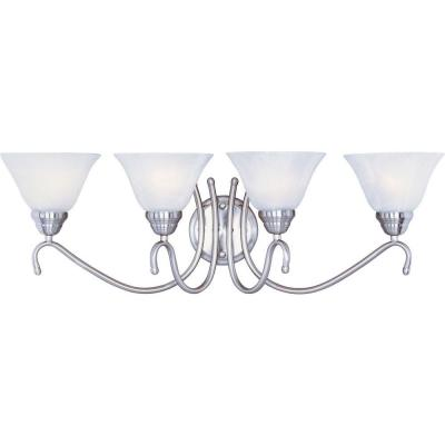 Newport 4-Light Satin Nickel Bath Vanity Light