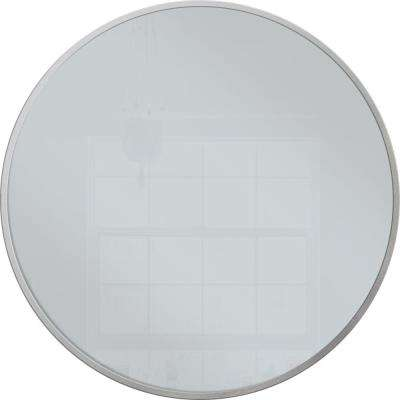 28 in. x 28 in. Silver Round Metal Mirror