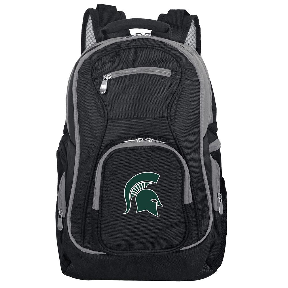 finest selection da364 f4a67 Denco NCAA Michigan State Spartans 19 in. Black Trim Color Laptop Backpack