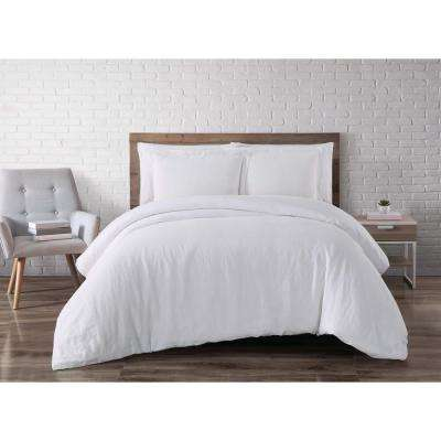 Linen White Queen Duvet Set
