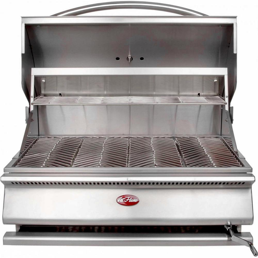 Cal Flame G Series 31 In Built In Stainless Steel Charcoal Grill Bbq09g870 The Home Depot