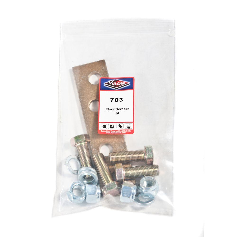 Vulcan Replacement Floor Scraper Kit (4 Bolts, 4 Nuts, 4 Washers, 1 Hold Down Plate)