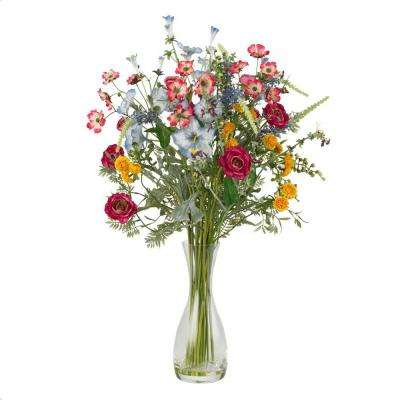 25 in. H Assorted Veranda Garden Silk Flower Arrangement
