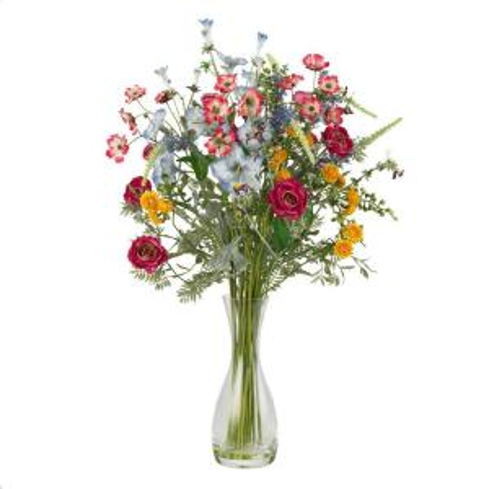 25 in. H Assorted Veranda Garden Silk Flower Arrangement