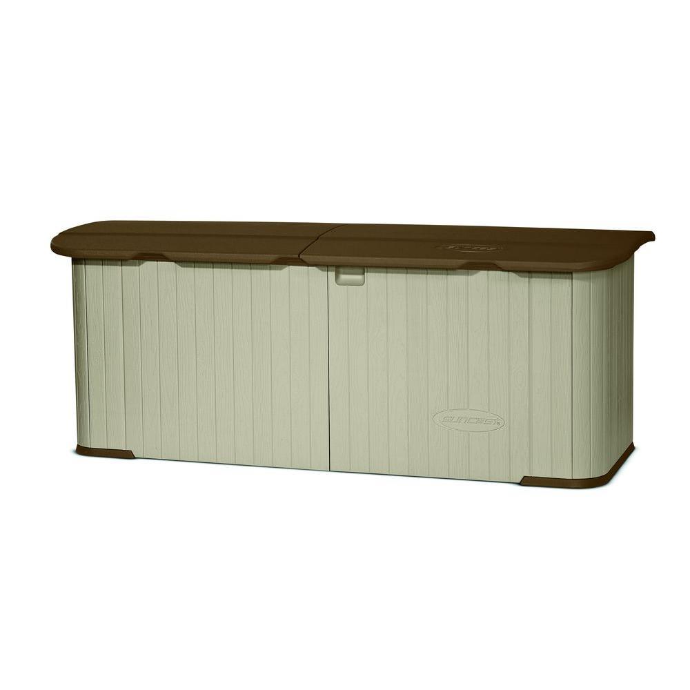 "Suncast Multi-Purpose Storage Shed 3 ft. x 7 ft. 4 "" Resin Split Lid"