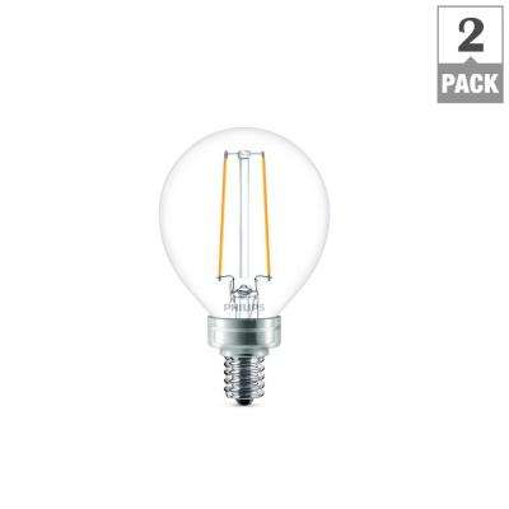 25W Equivalent G16.5 LED Night Light Bulb (2-Pack)