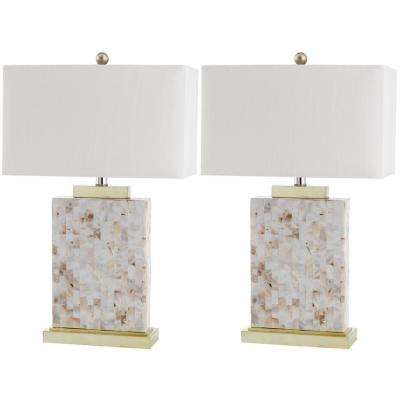 Tory 25 in. Shell Table Lamp (Set of 2)