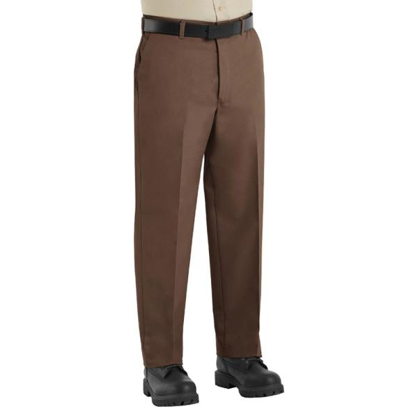 Red Kap Men S Size 34 In X 30 In Brown Wrinkle Resistant Cotton Work Pant Pt10bn 34 30 The Home Depot