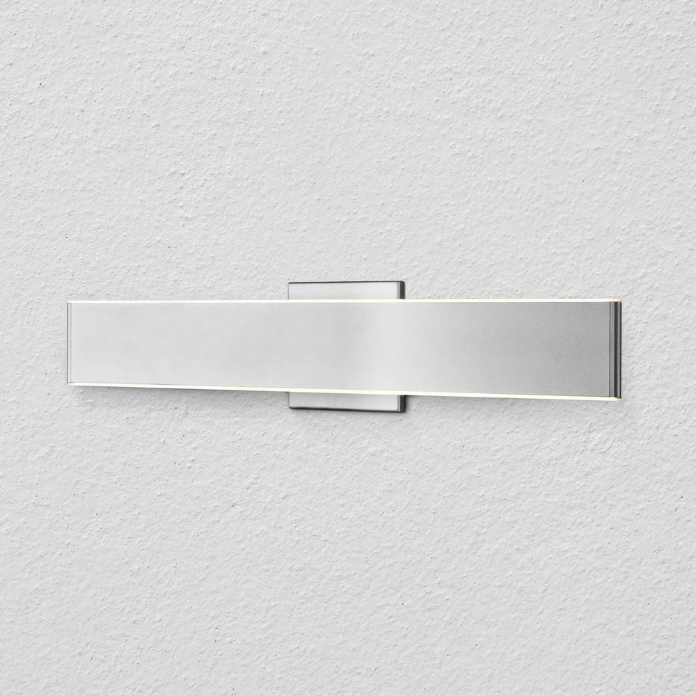Wezen 24-Watt Silver Integrated LED Bath Light