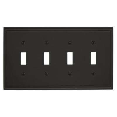 Mulholland 4-Toggle Wall Plate, Black Bronze