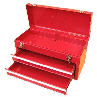 20.1 in. W Portable Steel Tool Box in Red