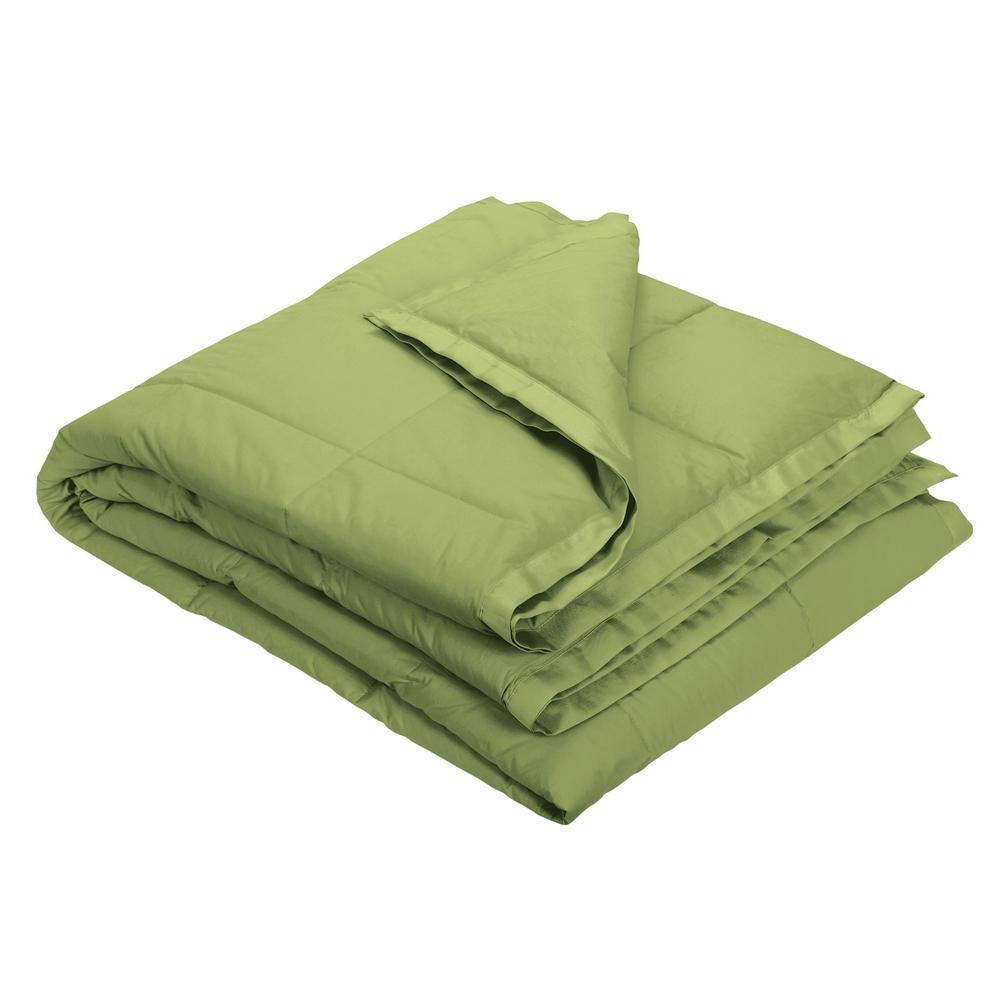 The Company Store LaCrosse LoftAIRE Fern Green Oversized Throw KO81-OS-FERN-GREEN