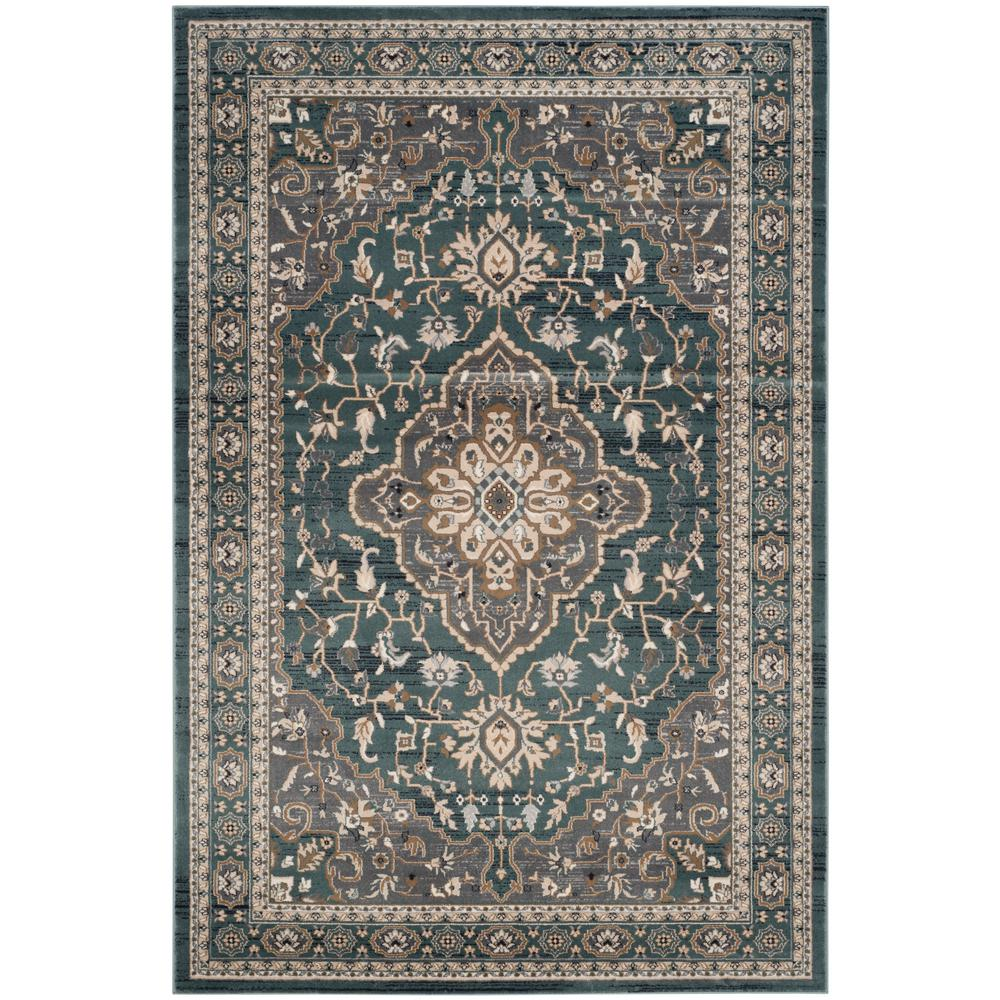 Safavieh Lyndhurst Teal/Gray 9 Ft. X 12 Ft. Area Rug