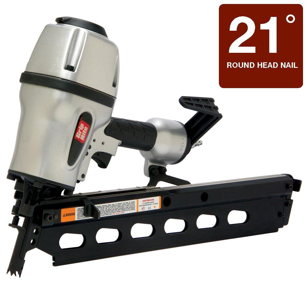Grip-Rite 3-1/2 in. 21 Degree Round Head Framing Nailer