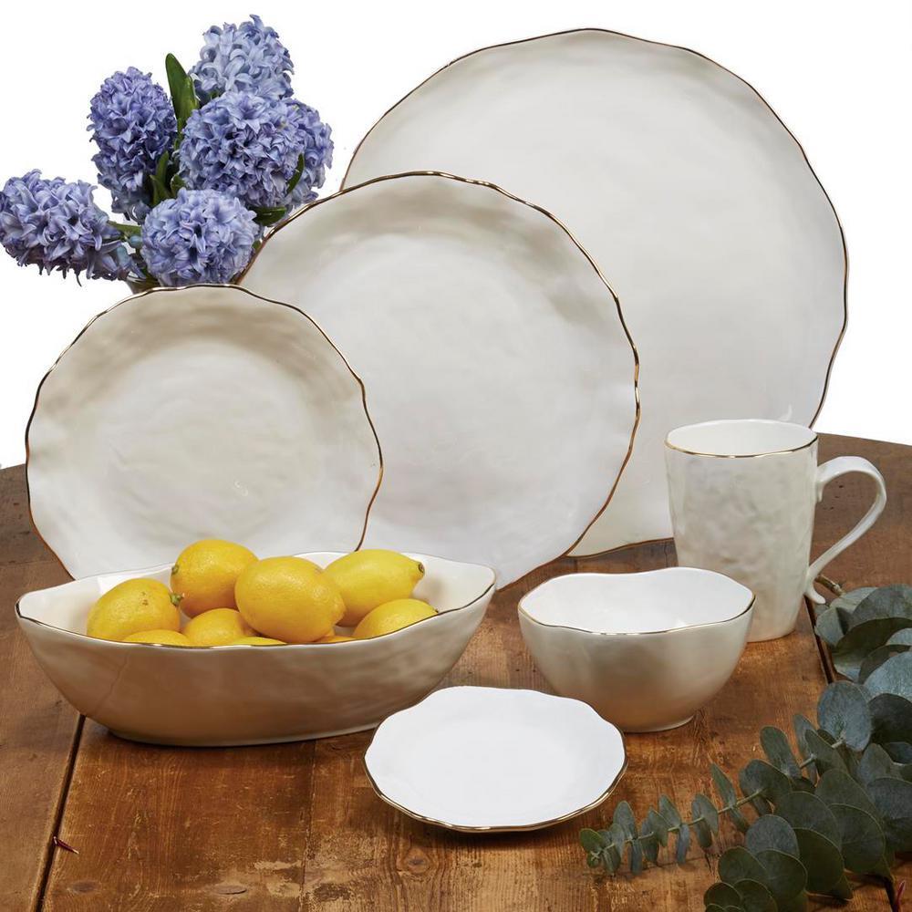 Elegance 4-Piece Patterned Multi-Colored Porcelain 30 oz. Soup Bowl Set (Service for 4)