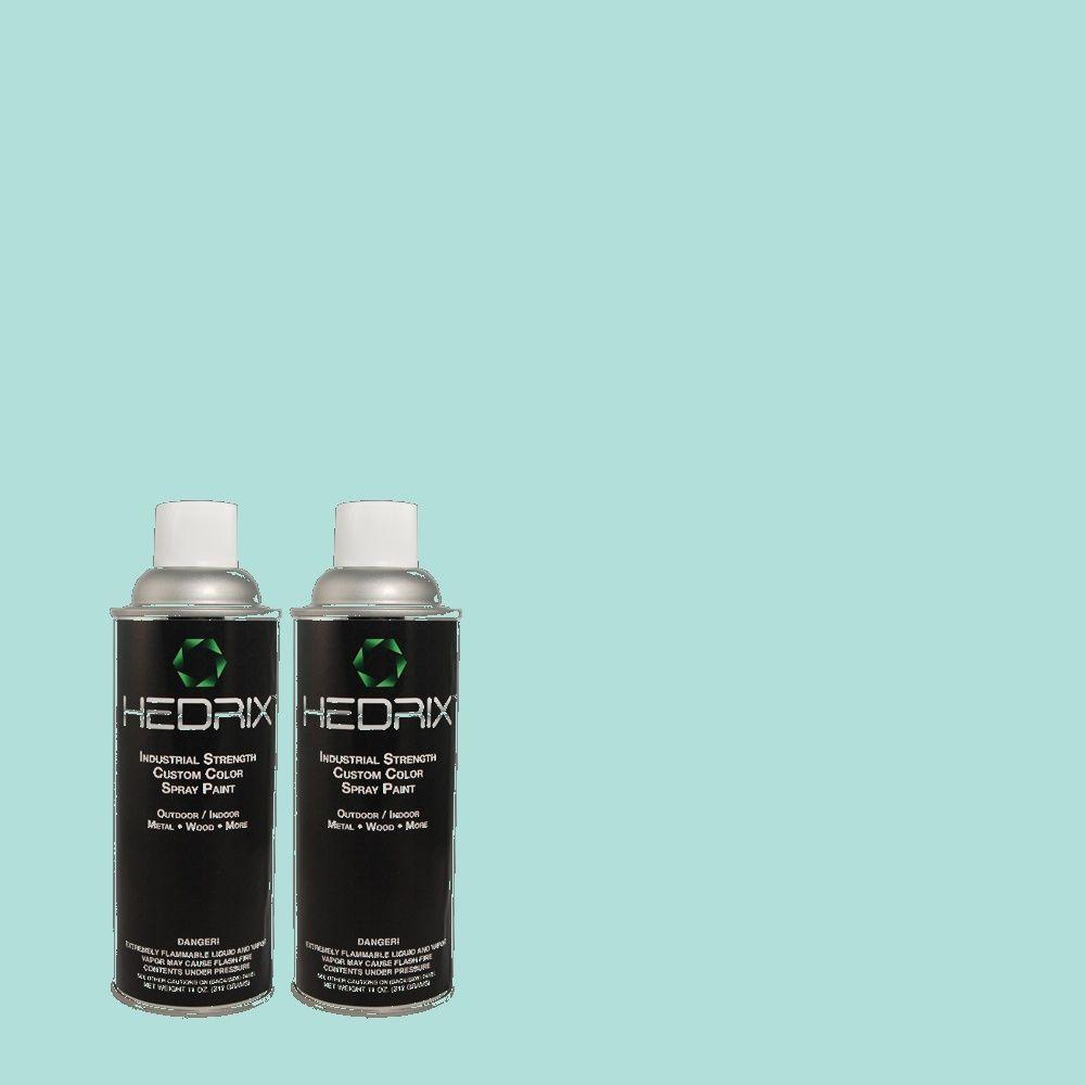 Hedrix 11 oz. Match of 500A-3 Aqua Spray Low Lustre Custom Spray Paint (2-Pack)