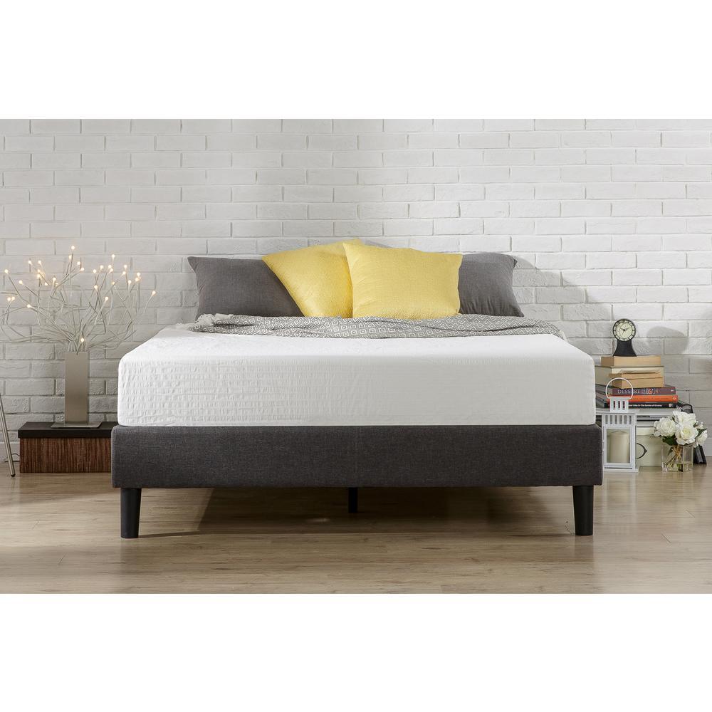 Zinus Curtis Upholstered Platform Bed Frame Full Hd Efpb F The Home Depot