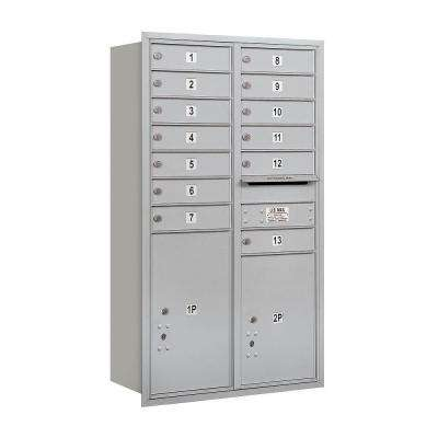 3700 Series 48 in. 13 Door High Unit Aluminum Private Rear Load 4C Horizontal Mailbox with 13 MB1 Doors/1 PL5/1 PL6